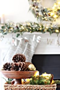 frosted-evergreen-mantel