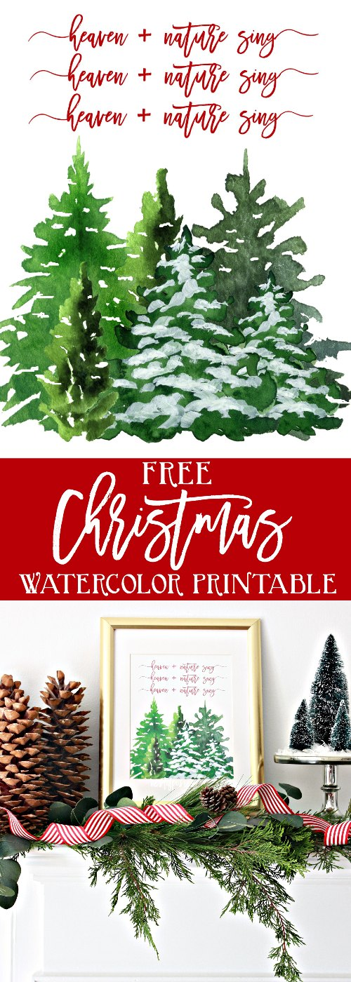 Heaven and Nature Sing Christmas Printable