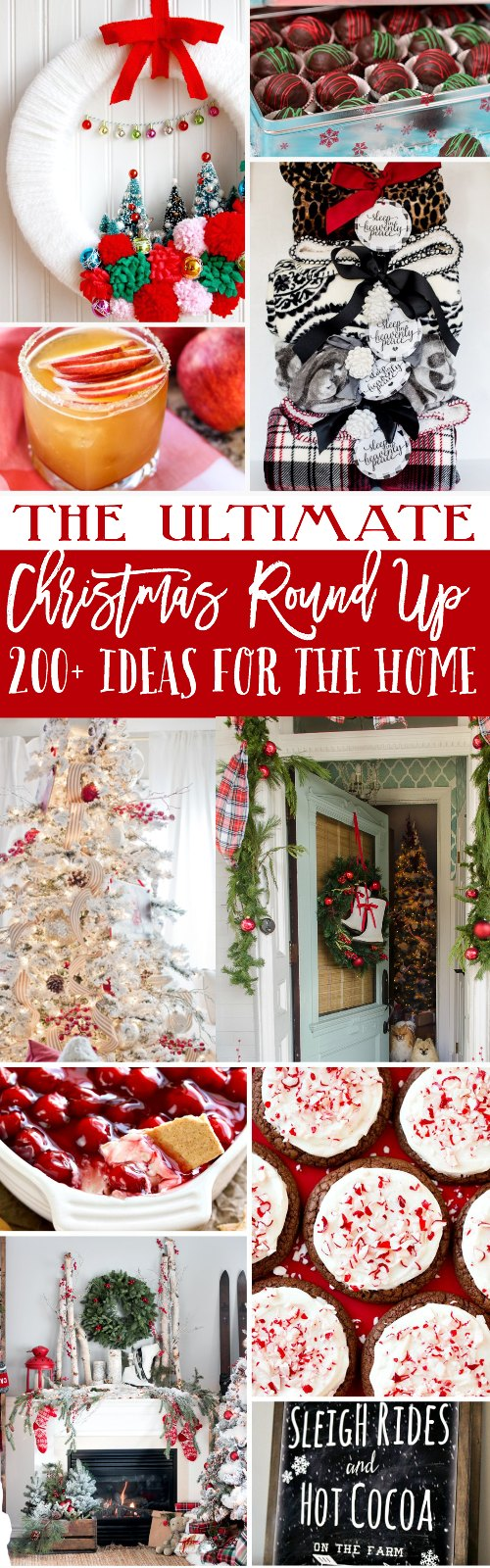 The Ultimate Christmas Round Up! Over 200+ ideas for your home's decor, gifts to make & things to bake.