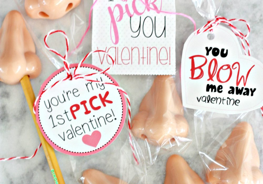 Pencil Nose Sharpener Valentine with Free Printable