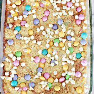 M&M'S White Chocolate Easter Lemon Gooey Bars