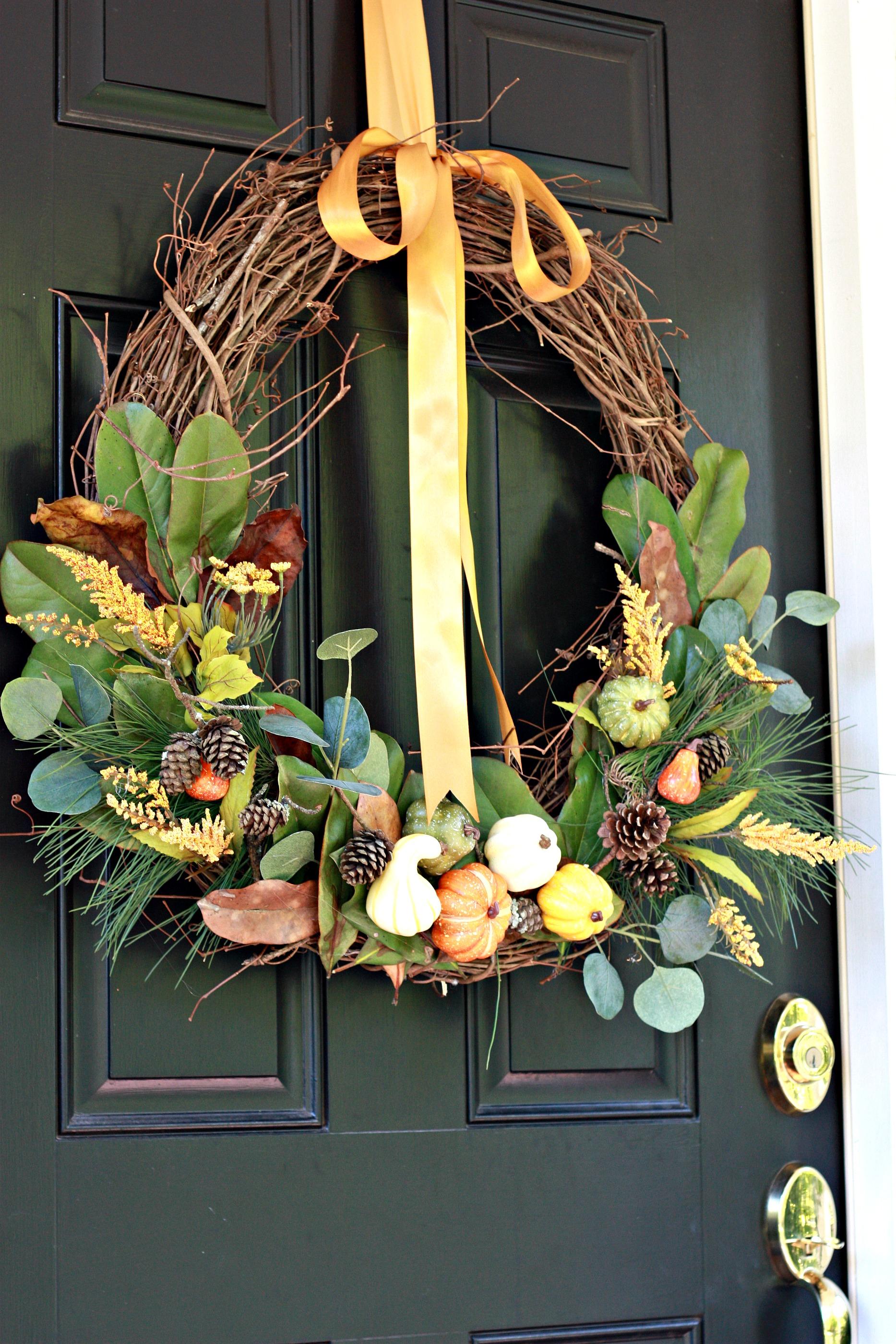 DIY Nature Inspired Fall Wreath