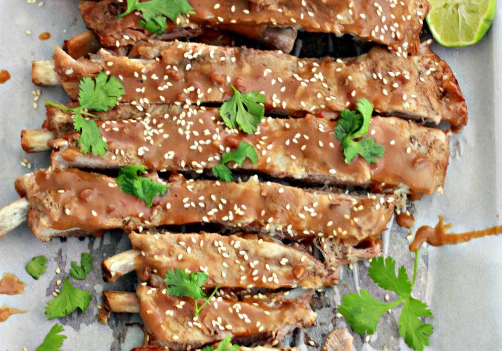 Slower Cooker Thai Style Pork Spare Ribs